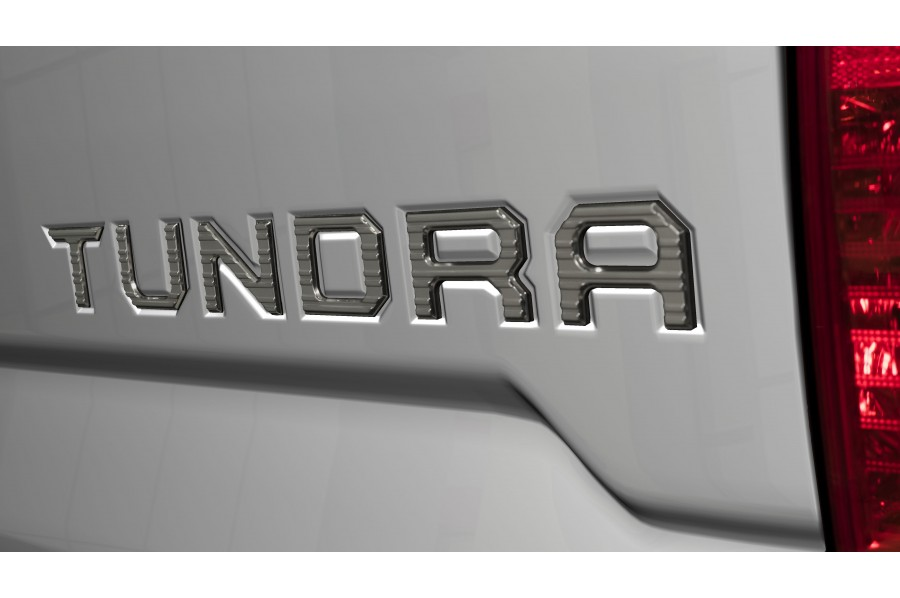 Toyota tundra 2014 2018 tailgate insert 5 finishes for Toyota tundra letter inserts