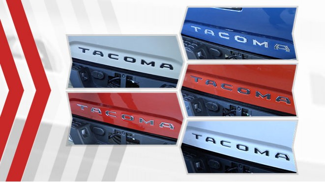 2016-2020 Toyota Tacoma Tailgate Inlays